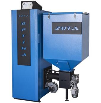 Пеллетный котел Zota Optima мощностью до 25кВТ полное описание и монтажные размеры